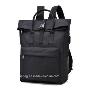 Comercio al por mayor de 15,6 pulgadas de tela bolsa para portátil Mochila, bolsa de deporte para puerto USB Exhanger
