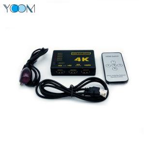 Ycom HDMIのスイッチャ5X1 4KサポートHDMIスイッチ5入力黒