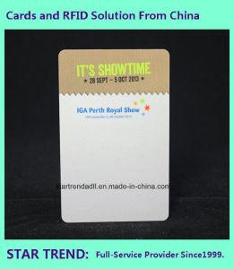 Scheda del PVC stampata con informazioni personalizzate da vendere la promozione