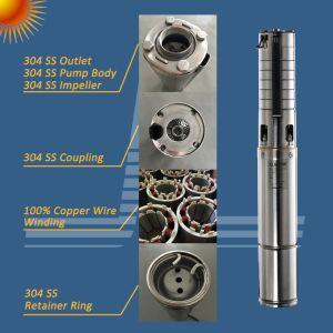 sistema di pompaggio solare di irrigazione di agricoltura di 1HP 750W 4ssc6.0/85-D60/750