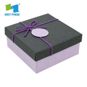 주문 인쇄 예쁜 리본 아기 선물 상자를 가진 최신 판매 마분지 사치품
