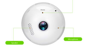 3/51.3/2/MP lâmpada sem fio WiFi rede Fisheye câmera de segurança CCTV IP