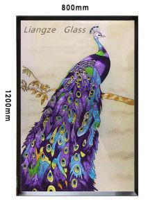 Cloisonneエナメルの手仕事の絵画-記念品のための孔雀