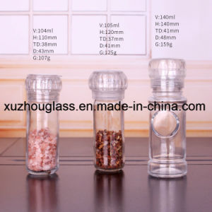 100ml 3.5ozの塩およびコショウ挽きのためのガラススパイスの瓶ガラスの香辛料のびん