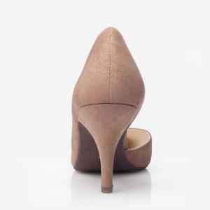 Terciopelo elegantes zapatos de tacón para mujer