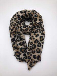 Una sciarpa acrilica tessuta stampata leopardo di 2018 modi