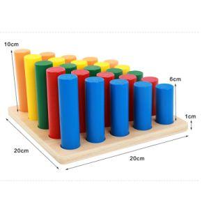 Blocs-cylindres sur le sida de l'apprentissage sensorielle Kids Fun jouet éducatif mathématique