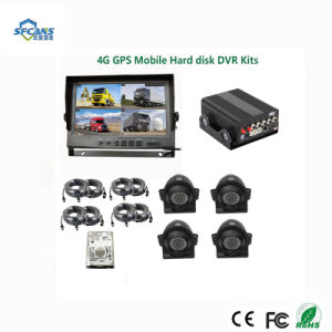 ポータブル4 CH USB RS232コネクターとのGPSの2.5インチのハード・ドライブ移動式DVR