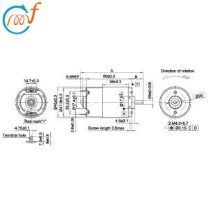 Motor eléctrico 12V RS-775sh-4537r motor DC, para sierra circular