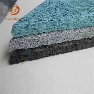 Dernière technologie de production de laine de bois Panneau acoustique décoration murale