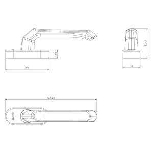 アルミ合金の開き窓のWindowsのフォークのハンドル