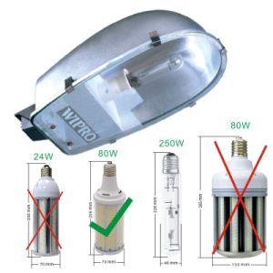 80W 12800LM Super brillante Sustitución de la luz de la calle E26 E27 E39 Bombilla LED E40