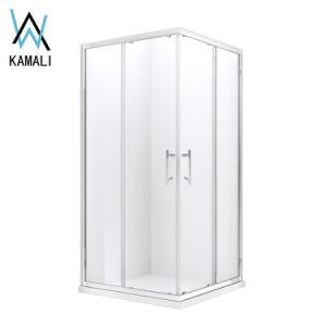 Kamali China barata bañera de esquina cabina de ducha portátil vidrio bastidor de aluminio de encerrar Duchas esquina personalizada