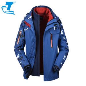 Наружная мода Custom Climbing Fleece Softshell Winter Мужские 3 дюйма 1 куртки для лыж