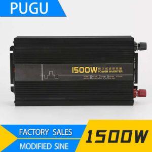 1500W Onde sinusoïdale pure 12VDC pour 220VAC convertisseur de courant solaire