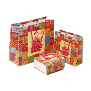 Poignée personnalisé de Noël de recycler le papier imprimé sac cadeau (YH-PGB055)