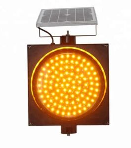 La energía solar Flash LED Testigo de tráfico de la seguridad vial