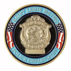 Gold Zinc Alloy Custom Police Metal Enamel Coin für Wholesale (181)