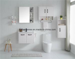 白い絵画合板の浴室の家具の洗面器のキャビネットMDFの虚栄心のキャビネットRM8823