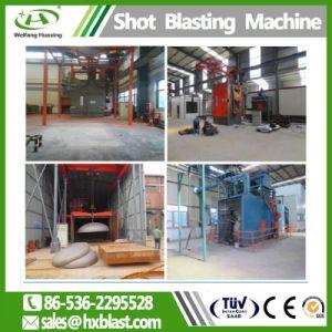 Het Vernietigen van het Schot van het Type van Haak van het Systeem van het Recycling van Huaxing ISO de Schurende Oppoetsende Machine van het Staal, Industriële Schoonmakende Machines