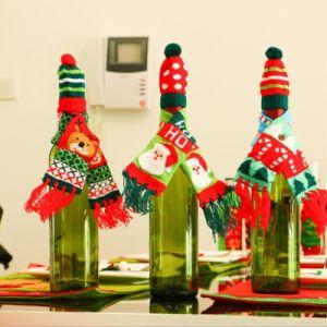 クリスマスツリーXmasの赤ワインのびんカバーBags