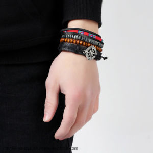 De nieuwe Hete Armband van het Leer van de Mensen van het Kompas Punk