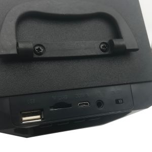 LED de madera negra mini altavoz portátil Bluetooth inalámbrico