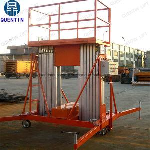 Doppio elevatore mobile telescopico idraulico della lega di alluminio dell'albero da vendere