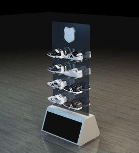 Square métal/MDF Chaussures de mode Affichage vitrine pour le shopping centre/magasins