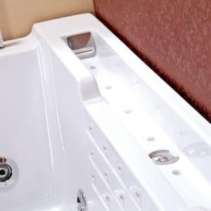 Una sola persona rectángulo masaje acrílico bañera con almohada (TLP-669 mando neumático)