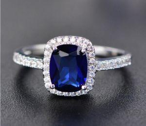 De Juwelen van de Manier van de trouwring met Zilveren Geplateerd Goud 925