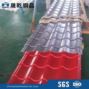 Aço Prepainted ondulado folha de metal de cor