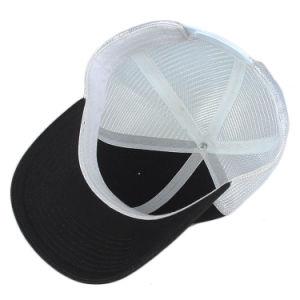 6つのパネルの綿の黒のブランクの野球帽のトラック運転手の帽子