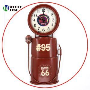 Arte Artesanía cabina de teléfono de Metal industrial de forma elegante reloj de cuarzo