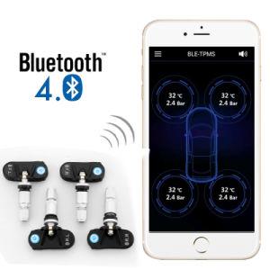 Bluetooth APPの人間の特徴をもつ装置のための4台の内部センサーのスマートな電話TPMS