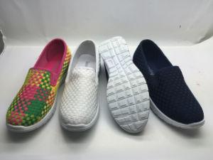Los diamantes de alta plana Ocio zapatos casual (6126)