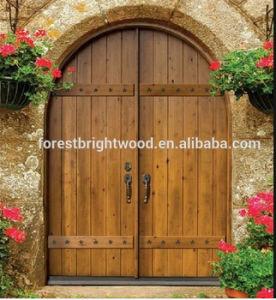 Forma De Arco De Doble Puerta De Entrada De La Hoja Exterior De