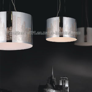Muito simples de decoração contemporânea pendente da lâmpada de iluminação com sombra de Metal