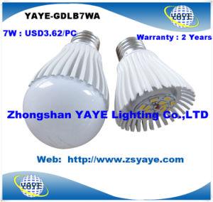 CE/RoHS Yaye Top vender a preços competitivos de 7 W de alta qualidade e27 Lâmpadas LED / Lâmpada LED de 7 W Lightwith USD3.62/PC