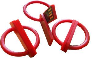 RoundプラスチックCircle Pen Drive Mini Swivel USB Flash Drive Circle 1g 4G 8g 64G (UA87)