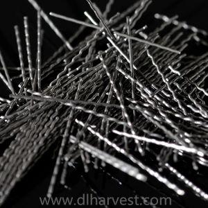 Fibras de aço ondulado de baixo carbono para as indústrias de cimento e aço