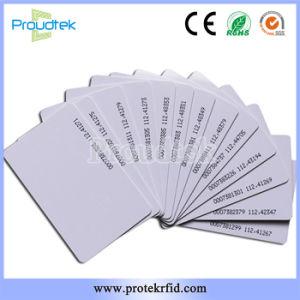 Scheda stampabile della scheda di identificazione di RFID Tk4100 Em4200 dell'intera superficie bianca in bianco della scheda con il numero verniciato di Uid