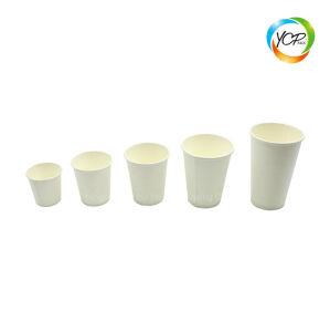 Amidon de maïs dégradable de santé naturel PLA Tasse à café en papier de revêtement