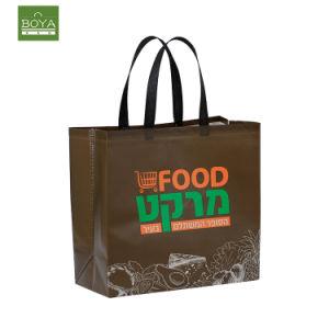 Дружественность к стандартизации рекламных материалов из переработанных магазинов женская сумка с логотипом ламината Custom