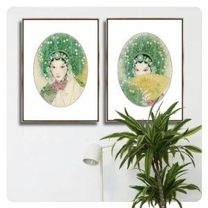 Het Chinese het Schilderen van het Canvas van de Olie van het Portret van de Stijl Klassieke Abstracte Beeld van de Decoratie van de Kunst van de Muur