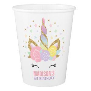 Comercio al por mayor ¡Feliz cumpleaños preciosa suministros de parte de la Copa de papel desechables impresos