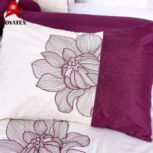 ディスパースの印刷の贅沢な卸し売りMicrofiberの刺繍の寝具セット