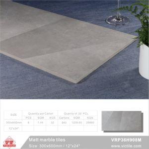 建築材料の大理石の石のマットの磁器の床タイル(VRP36H908、300X600mm/12  x24 )