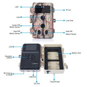 16MP 1080P de caza silvestre con cámara estanca IP66.