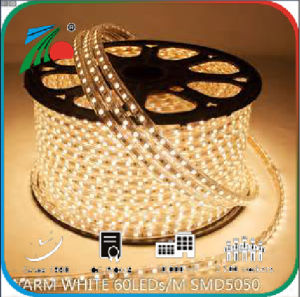 Indicatore luminoso di striscia della striscia 220V 60LEDs LED di SMD 5050 RGB LED
